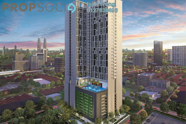 For Sale Condominium at Chambers Kuala Lumpur, Chow Kit Freehold Semi Furnished 1R/1B 379k