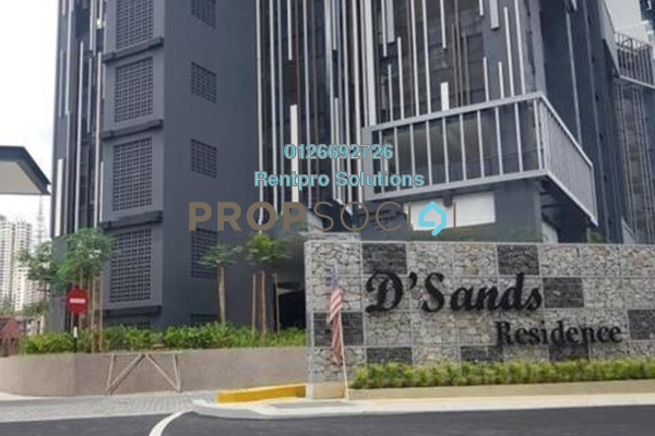 For Rent Condominium at D'Sands Residence, Old Klang Road Freehold Semi Furnished 2R/2B 1.65k