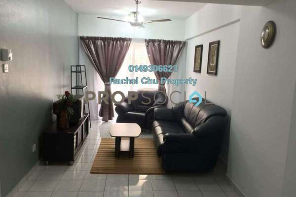 For Rent Apartment at Sri Lavender Apartment, Kajang Freehold Fully Furnished 3R/2B 1.1k