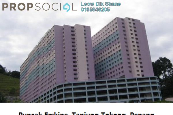 For Rent Condominium at Puncak Erskine, Tanjung Tokong Freehold Unfurnished 3R/2B 650translationmissing:en.pricing.unit