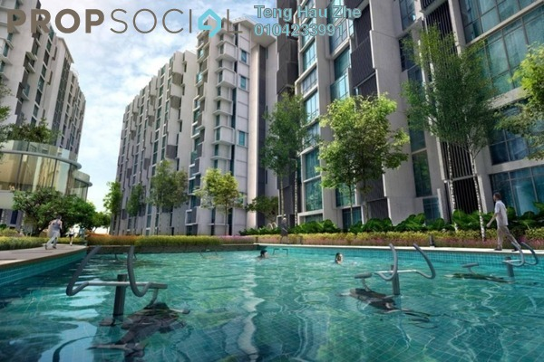 For Sale Condominium at H2O Residences, Ara Damansara Freehold Fully Furnished 3R/2B 630k