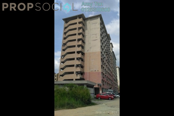 For Sale Apartment at Taman Permai Indah Apartment, Port Klang Leasehold Semi Furnished 3R/1B 60k