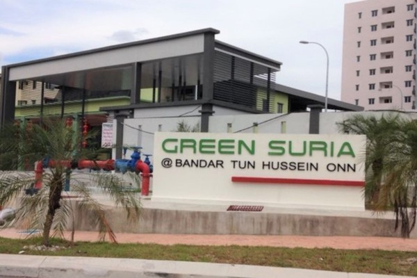 For Sale Condominium at Green Suria Apartment, Bandar Tun Hussein Onn Freehold Unfurnished 3R/2B 338k