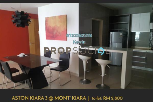 For Rent Condominium at Aston Kiara 3, Mont Kiara Freehold Fully Furnished 3R/3B 2.8k