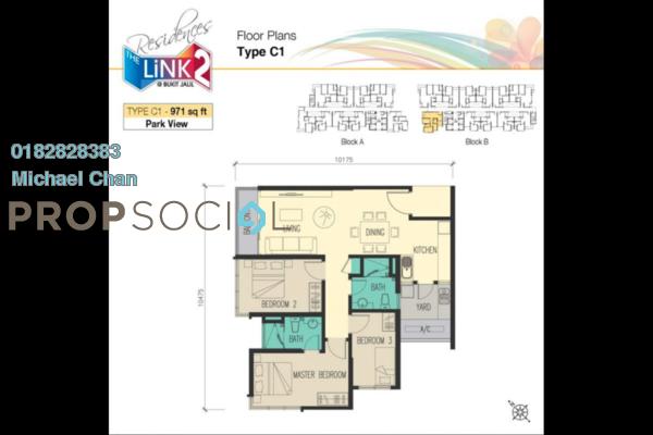 For Sale Serviced Residence at The Link 2 Residences, Bukit Jalil Freehold Unfurnished 3R/2B 820k