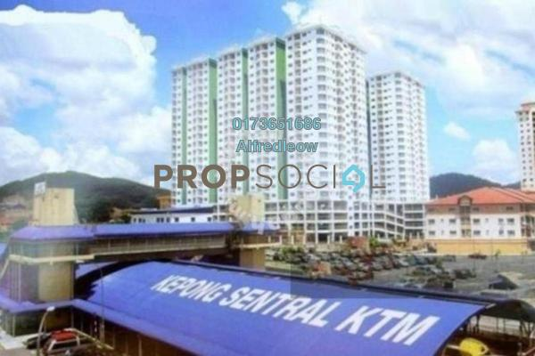 For Rent Condominium at Kepong Central Condominium, Kepong Freehold Semi Furnished 3R/2B 1.1k