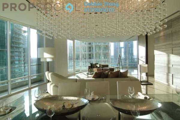 For Rent Condominium at The Oval, KLCC Leasehold Semi Furnished 3R/5B 12k