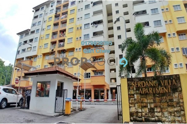 For Rent Apartment at Serdang Villa Apartment, Seri Kembangan Freehold Fully Furnished 3R/2B 1k