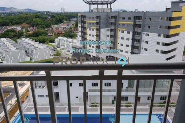 For Rent Condominium at Permata Residence, Bandar Sungai Long Freehold Unfurnished 3R/2B 1k