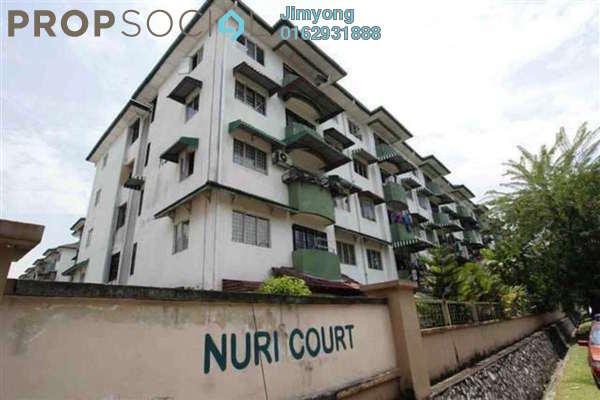 For Rent Apartment at Nuri Court, Pandan Indah Freehold Semi Furnished 3R/2B 1.2k