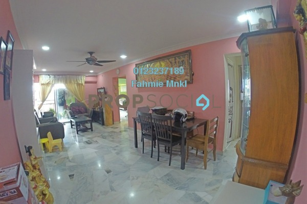 For Sale Apartment at Hijau Ria, Kepong Freehold Semi Furnished 3R/2B 360k