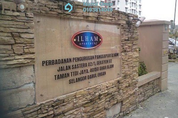 For Rent Apartment at Ilham Apartment, TTDI Jaya Freehold Semi Furnished 1R/1B 230translationmissing:en.pricing.unit
