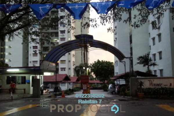 For Rent Condominium at Winner Court B, Desa Petaling Freehold Unfurnished 3R/2B 1.1k