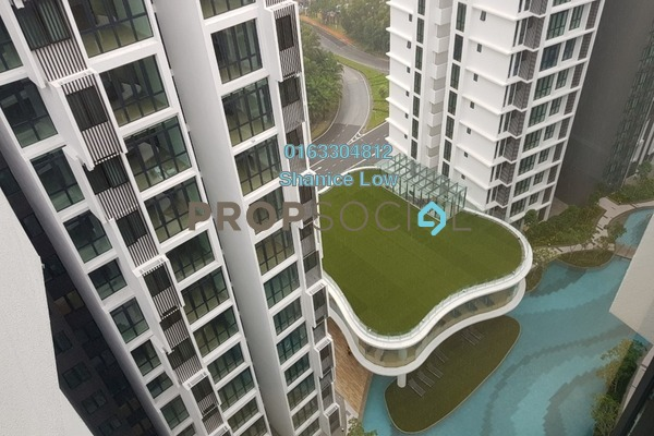 For Rent Condominium at H2O Residences, Ara Damansara Freehold Semi Furnished 3R/2B 2.1k