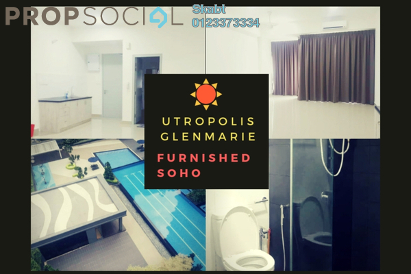 For Rent Apartment at Paramount Utropolis, Glenmarie Freehold Semi Furnished 0R/1B 1k