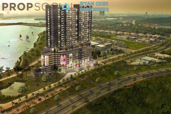 For Sale Condominium at Saville @ D'Lake, Puchong Freehold Semi Furnished 3R/4B 420k