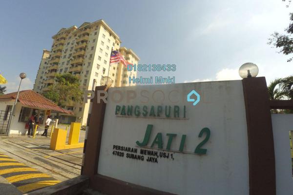 For Sale Condominium at Jati 1 Apartment, Subang Jaya Freehold Semi Furnished 3R/2B 320k
