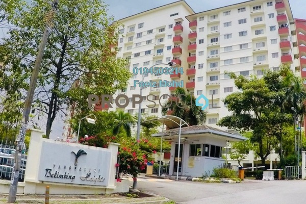 For Sale Apartment at Belimbing Heights, Seri Kembangan Freehold Fully Furnished 3R/2B 310k
