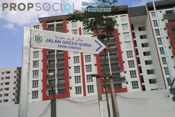 For Sale Condominium at Green Suria Apartment, Bandar Tun Hussein Onn Freehold Unfurnished 3R/2B 360k