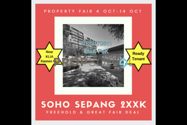 For Sale SoHo/Studio at Core SoHo Suites, Sepang Freehold Semi Furnished 1R/1B 261k