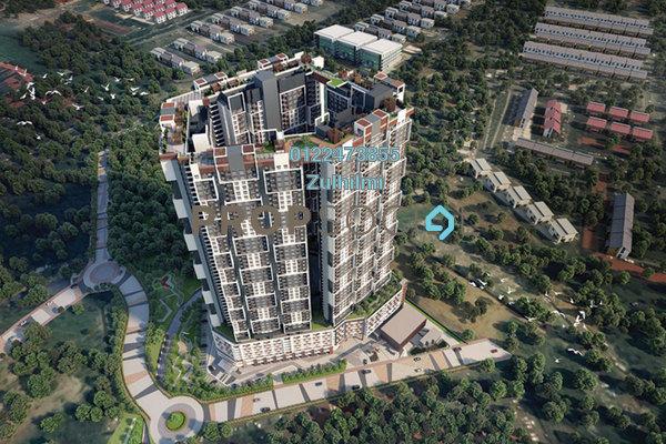 For Sale Condominium at SkyAwani 3 Residence, Setapak Leasehold Unfurnished 3R/2B 300k