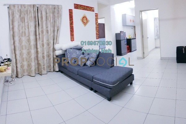 For Sale Apartment at Akasia Apartment, Klang Freehold Semi Furnished 3R/2B 315k