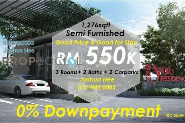 For Sale Condominium at You Residences @ You City, Batu 9 Cheras Freehold Semi Furnished 3R/2B 550k
