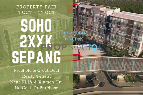 For Sale SoHo/Studio at Core SoHo Suites, Sepang Freehold Semi Furnished 1R/1B 263k