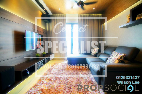 For Rent Condominium at Villa Crystal, Segambut Freehold Semi Furnished 3R/2B 1.6k