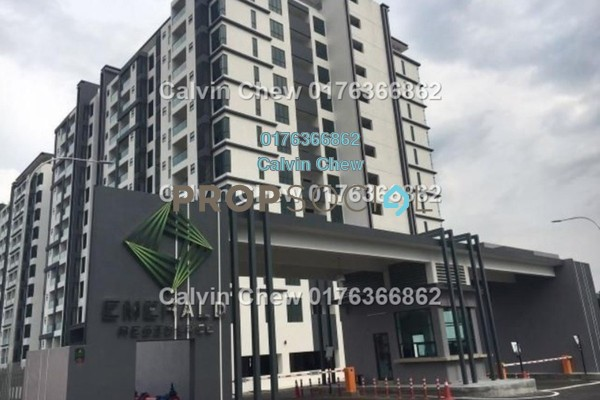 For Sale Condominium at Emerald Residence, Bandar Mahkota Cheras Freehold Unfurnished 3R/2B 380k