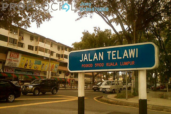 For Rent Office at Telawi, Bangsar Freehold Semi Furnished 1R/1B 7k