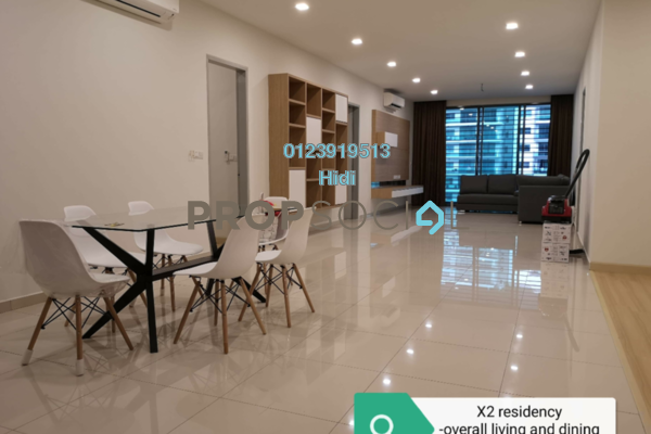 For Rent Condominium at X2 Residency, Puchong Freehold Fully Furnished 4R/5B 2.5k