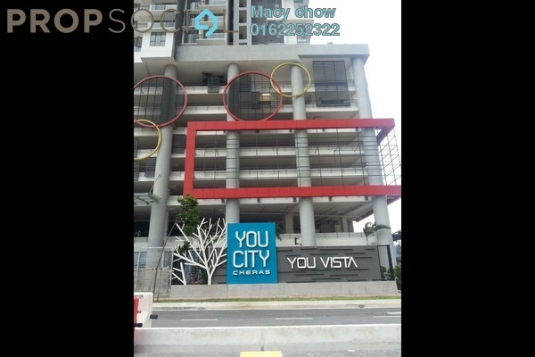 For Rent Condominium at You Vista @ You City, Batu 9 Cheras Freehold Fully Furnished 3R/2B 1.95k