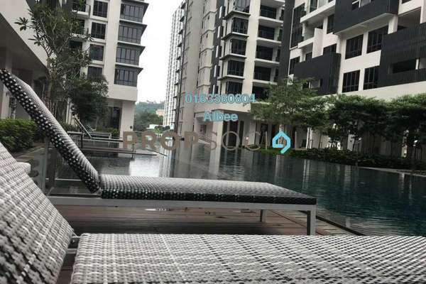 For Rent Condominium at Anjali @ North Kiara, Segambut Freehold Semi Furnished 3R/2B 2.5k