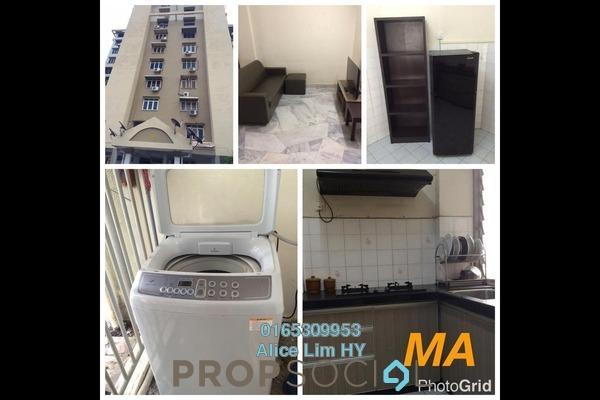 For Rent Condominium at Mahsuri Apartment, Bayan Baru Freehold Fully Furnished 3R/2B 1.2k