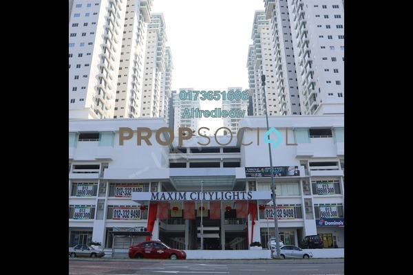 For Sale Condominium at Maxim Citilights, Sentul Freehold Unfurnished 3R/2B 390k
