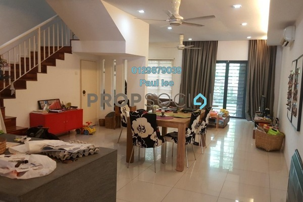 For Sale Terrace at Ametis Terraces, Bandar Bukit Puchong Freehold Semi Furnished 4R/3B 800k