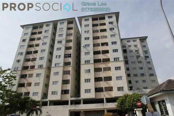 For Sale Apartment at Intan Apartment, Puchong Leasehold Semi Furnished 3R/2B 260k