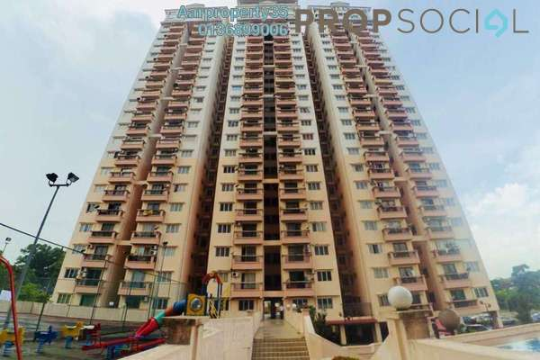 For Sale Condominium at Langat Jaya, Batu 9 Cheras Freehold Semi Furnished 3R/2B 280k