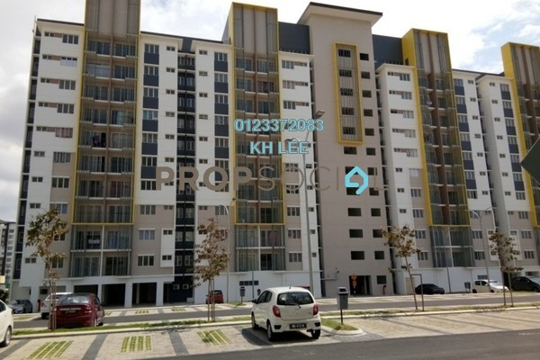 For Sale Apartment at Seri Pinang Apartment, Setia Alam Freehold Unfurnished 3R/2B 320k