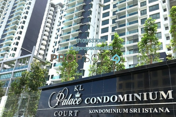 For Rent Condominium at KL Palace Court, Kuchai Lama Freehold Semi Furnished 3R/2B 1.7k