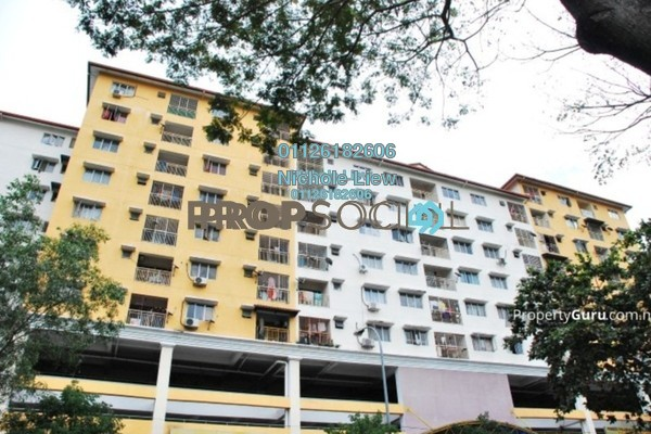 For Sale Apartment at Section 16, Shah Alam Freehold Semi Furnished 3R/2B 279k