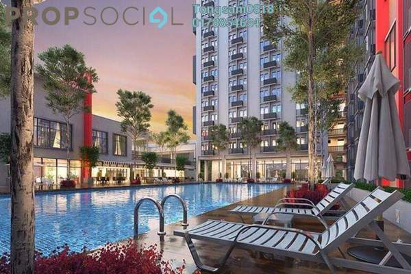 For Sale Condominium at Lake Edge, Puchong Freehold Fully Furnished 2R/1B 72k