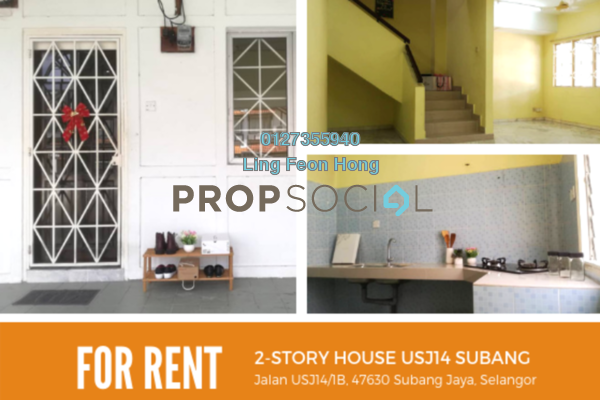 For Rent Terrace at USJ 14, UEP Subang Jaya Freehold Unfurnished 4R/3B 1.7k