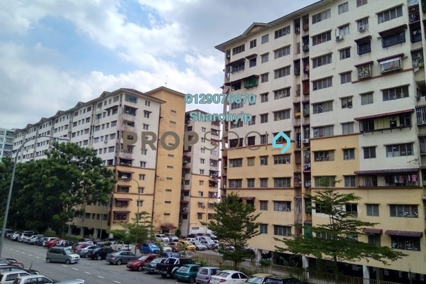 For Sale Apartment at Teratai Apartment, Bandar Mahkota Cheras Freehold Semi Furnished 3R/2B 188k