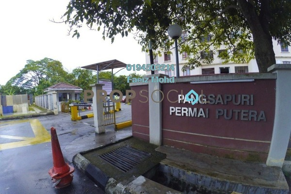 For Sale Apartment at Permai Putera, Ampang Freehold Semi Furnished 3R/2B 350k