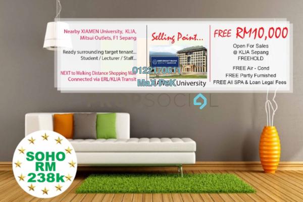 For Sale SoHo/Studio at Core SoHo Suites, Sepang Freehold Semi Furnished 1R/1B 266k