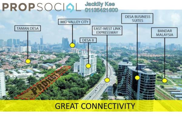 For Sale Condominium at The Address, Taman Desa Leasehold Semi Furnished 4R/3B 620k