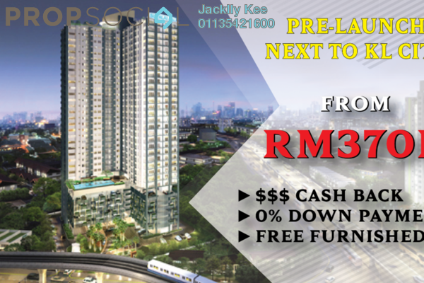For Sale Serviced Residence at Kenwingston Avenue, Sungai Besi Freehold Fully Furnished 3R/2B 500k