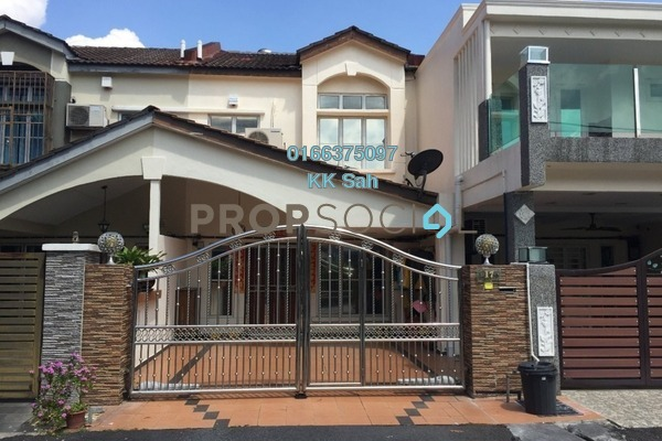 For Sale Terrace at Section 6, Bandar Mahkota Cheras Freehold Semi Furnished 4R/3B 600k